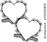 floral frame. floral wreath.... | Shutterstock .eps vector #1454182805