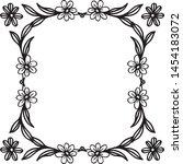 vintage set  ornament floral... | Shutterstock .eps vector #1454183072