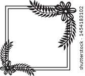 vintage set  ornament floral... | Shutterstock .eps vector #1454183102