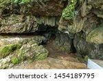 Narrow Entrance of Mawsmai Cave,Cherrapunjee,Meghalaya,India - stock photo