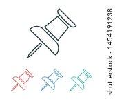 vector push pin icon  pushpin... | Shutterstock .eps vector #1454191238