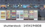 supermarket interior with goods ...   Shutterstock .eps vector #1454194808