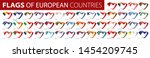 set of flags of europe. vector... | Shutterstock .eps vector #1454209745
