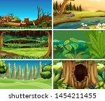 sets of empty nature... | Shutterstock .eps vector #1454211455