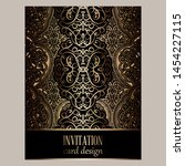 wedding invitation card with... | Shutterstock .eps vector #1454227115