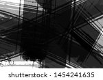 grunge black and white abstract ... | Shutterstock . vector #1454241635
