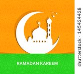 ramazan kareem greeting card  ... | Shutterstock .eps vector #145424428