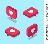 set of isometric like icons for ...   Shutterstock .eps vector #1454244545