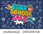 concept of education. sale... | Shutterstock .eps vector #1454245718