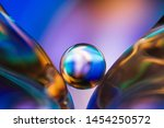 Small Glass Ball In Abstract...