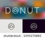 donut icon  logo. monoline... | Shutterstock .eps vector #1454270882