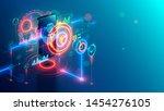 internet mobile banking... | Shutterstock .eps vector #1454276105