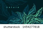 tropical foliage. vector hand... | Shutterstock .eps vector #1454277818