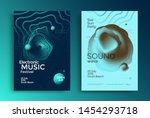 electronic music festival... | Shutterstock .eps vector #1454293718