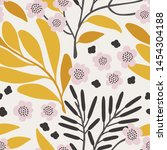 seamless vector floral pattern. ... | Shutterstock .eps vector #1454304188