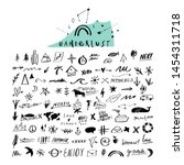 travel doodle handdrawn sketch... | Shutterstock .eps vector #1454311718