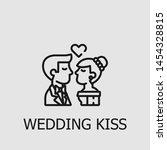 outline wedding kiss vector... | Shutterstock .eps vector #1454328815