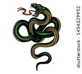 snake. colorful hand drawn... | Shutterstock .eps vector #1454329952
