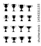 winner's cup. set of cups of...   Shutterstock .eps vector #1454331155