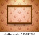 empty vintage frame on the wall ... | Shutterstock . vector #145433968