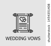 outline wedding vows vector... | Shutterstock .eps vector #1454351408