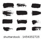 collection of paint strokes... | Shutterstock .eps vector #1454352725