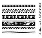 ethnic tribal border polynesian ... | Shutterstock .eps vector #1454353328