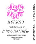 wedding invitation card. save... | Shutterstock .eps vector #1454365802