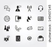 communication icons | Shutterstock .eps vector #145437145