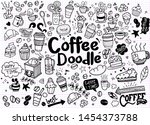 set of hand drawn coffee and... | Shutterstock .eps vector #1454373788