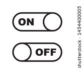 on and off toggle switch icon...