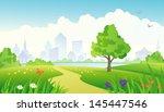 summer city park | Shutterstock . vector #145447546