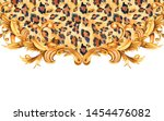 watercolor animal print with... | Shutterstock . vector #1454476082