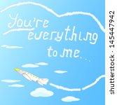 beautiful little airplane...   Shutterstock . vector #145447942
