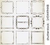 vintage frame set 3. abstract... | Shutterstock .eps vector #145449448