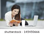 young chinese office worker... | Shutterstock . vector #145450666