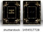 template wedding invitation ... | Shutterstock .eps vector #1454517728