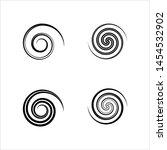 spiral collection  archimedean  ... | Shutterstock .eps vector #1454532902