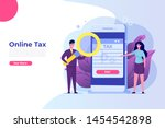 online tax payment app concept. ...