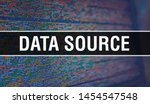 Stock photo data source with binary code digital technology background abstract background with program code 1454547548