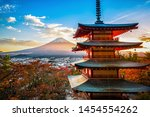 landscape image of fuji... | Shutterstock . vector #1454554262