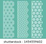 vector set of line borders with ... | Shutterstock .eps vector #1454559602
