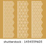 vector set of line borders with ... | Shutterstock .eps vector #1454559605