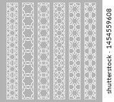 vector set of line borders with ... | Shutterstock .eps vector #1454559608