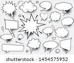 a set of comic speech bubbles... | Shutterstock .eps vector #1454575952