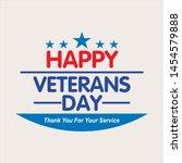 Happy Veterans Day Vektor...