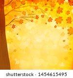 orange autumn maple leaves... | Shutterstock . vector #1454615495