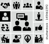 business people icons. | Shutterstock .eps vector #145461592