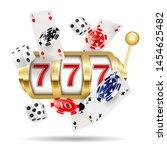 golden casino slot machine ... | Shutterstock .eps vector #1454625482