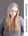portrait of a caucasian girl... | Shutterstock . vector #145463536